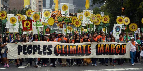 La Marcha del Clima, el 21 de Septiembre de 2014, en Nueva York.