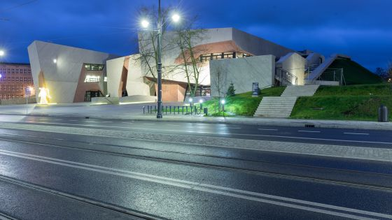 Exterior del Auditorio Jordanki de Torun (Polonia), obra del arquitecto tinerfeño Fernando Menis.
