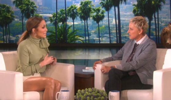 Jennifer Lopez en el programa de Ellen DeGeneres.