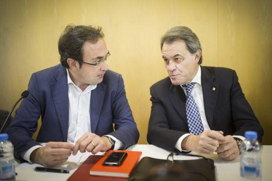 Josep Rull (left) and Artur Mas.