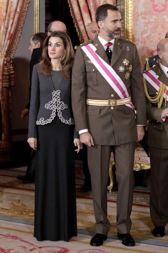 Junto al Rey Felipe, en 2013.