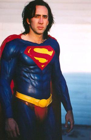Nicolas Cage como Superman en 1997.