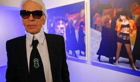 El diseñador Karl Lagerfeld.