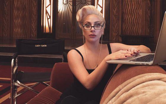 Lady Gaga en el set de rodaje de 'American Horror Story'.