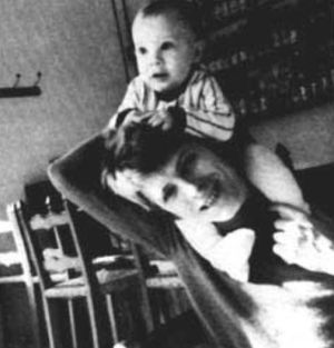 David Bowie y su hijo