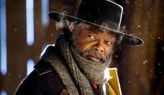 El actor interpretando a Marquis Warren, uno de los protagonistas en la nueva película de Tarantino, 'Los odiosos ocho'.