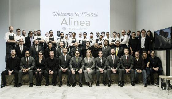 Todo el equipo de Alinea Madrid.