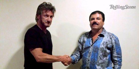 El actor Sean Penn junto a 'El Chapo' Guzmán.