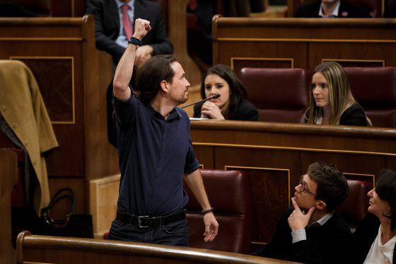 El arranque de la legislatura, en fotos. Arriba, Pablo Iglesias.