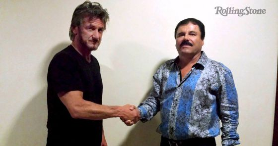 El actor, con El Chapo.
