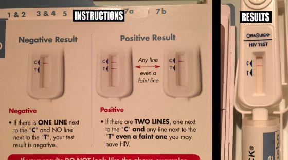 Test de sida de Samir Chachoua en su página web.