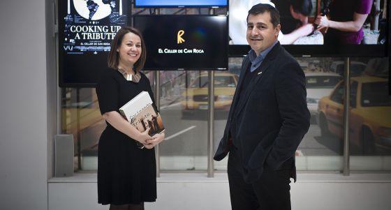 Maria Canabal y Josep Roca, durante la presentación del libro en Madrid.