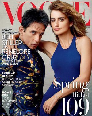 Portada de 'Vogue', con Ben Stiller y Penélope Cruz