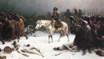 'Retirada de Napoleón de Moscú', pintada por el alemán Adolph Northen.