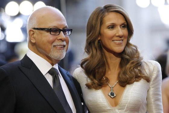 La cantante Celine Dion y su marido Rene Angelil en 2011.