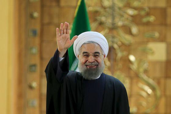 El presidente iraní, Hassan Rohani, durante una rueda de prensa ayer en Teherán.