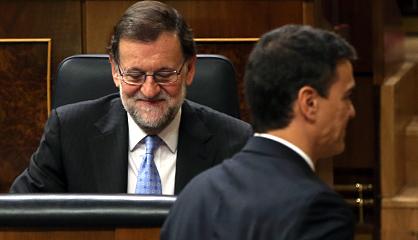 Rajoy y Sánchez durante la jornada inaugural del Congreso.