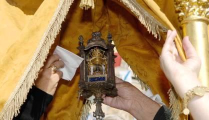 Imagen de la virgen de Vilanova de los Infantes.