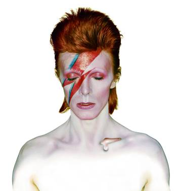 David Bowie en la portada de su disco Aladdin Sane.