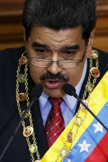 Nicolás Maduro, presidente de Venezuela, en su discurso ante la Asamblea Nacional l pasado día 15 de enero.