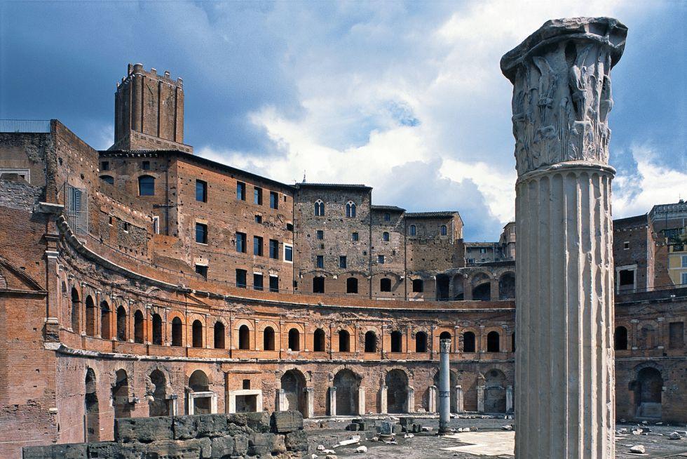 Magna obra. El Foro de Trajano fue el último de los foros imperiales.