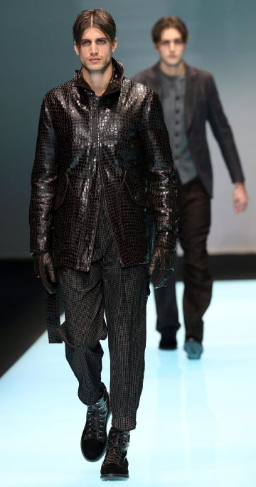 Desfile de la colección de Giorgio Armani de la Semana de la Moda Masculina de Milán.