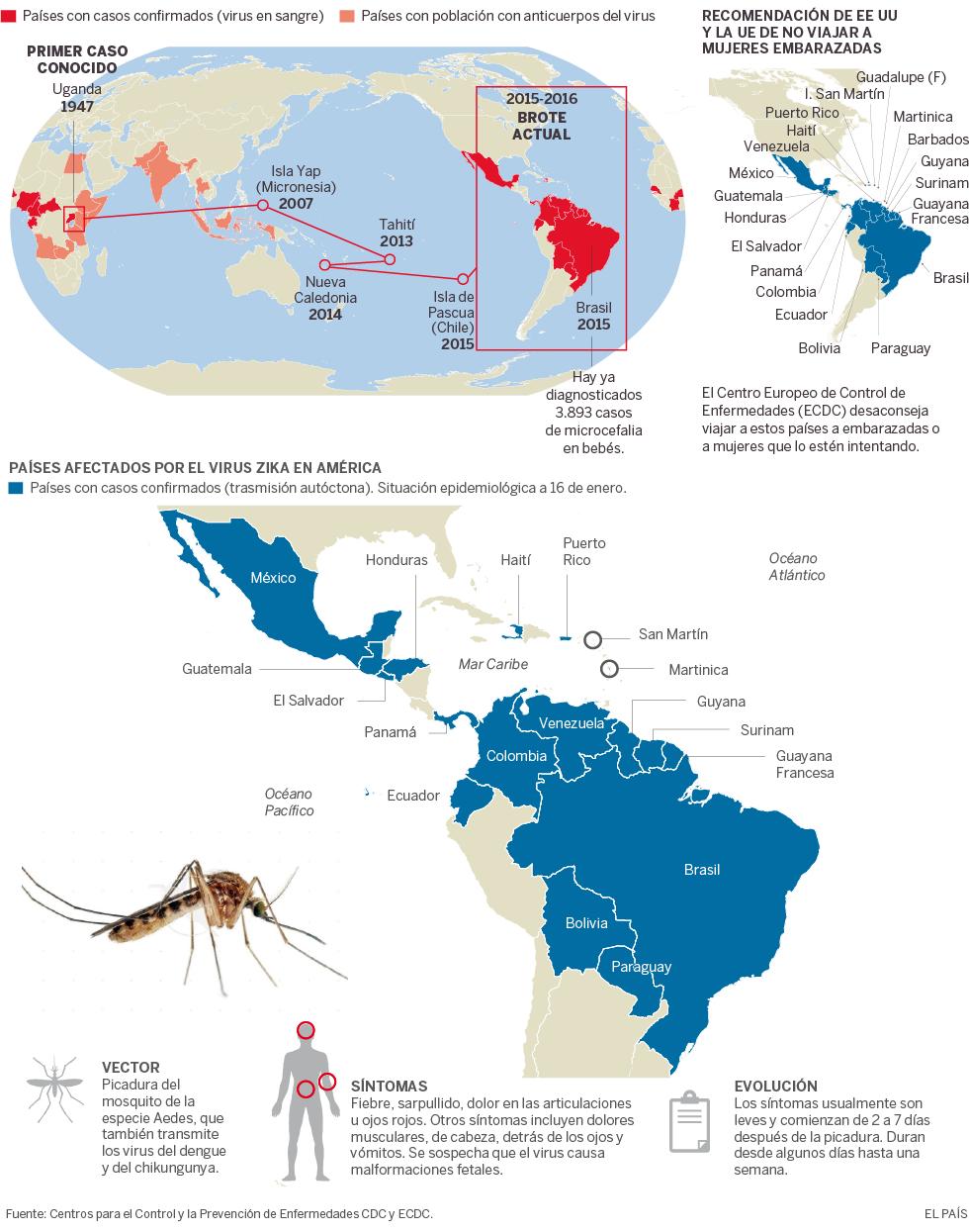 Evolución del virus zika en el mundo