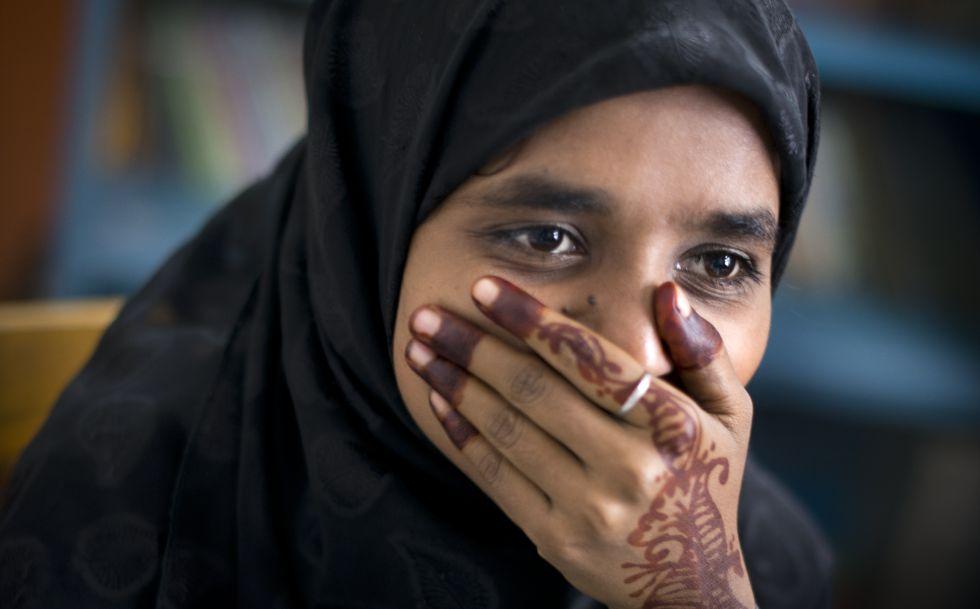 Rubi Adam, de 17 años, fue obligada a casarse cuando tenía 13. Tras 22 días secuestrada y golpeada por su marido, se escapó y divorció.