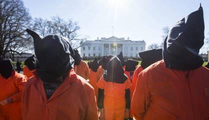 Manifestación por el cierre de Guantánamo ante la Casa Blanca.