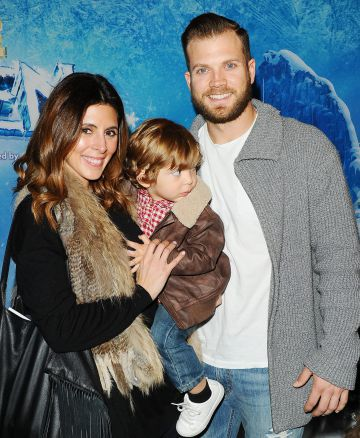 La actriz con su marido, Cutter Dykstra, y su hijo.