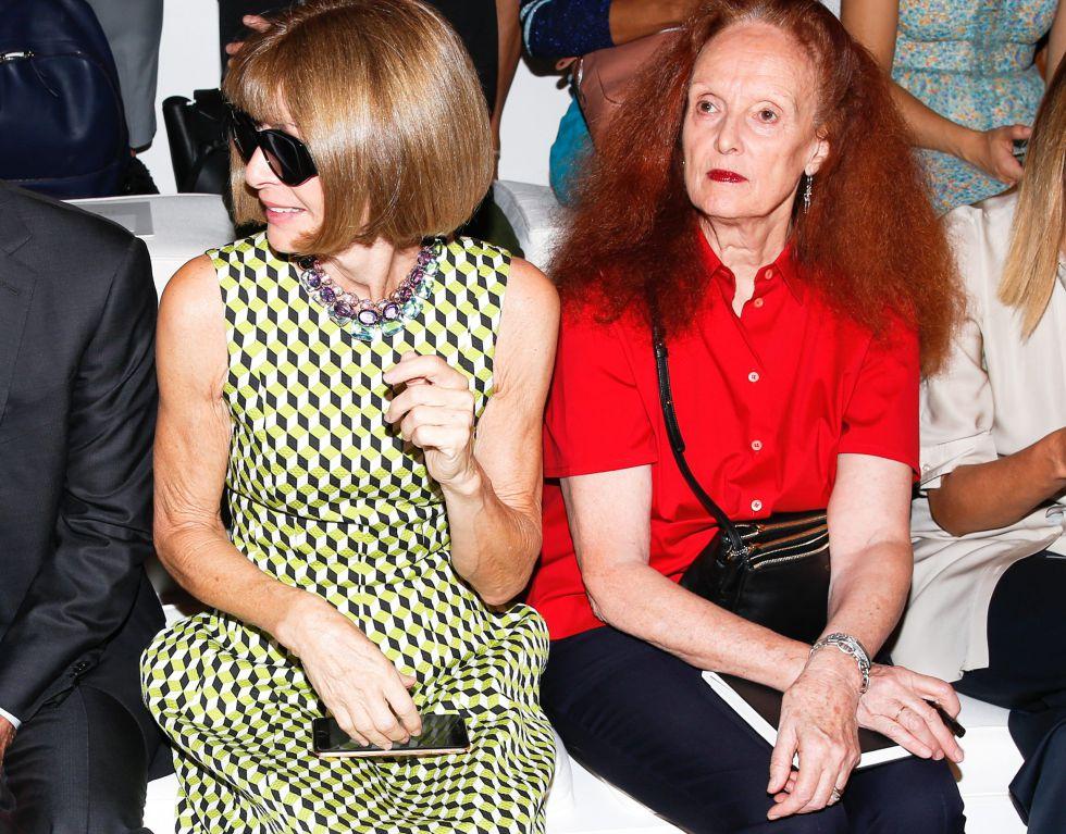 Anna Wintour, editora de 'Vogue', y Grace Coddingtonen el 'front row' de un desfile de la Semana de la Moda de Nueva York el pasado septiembre.