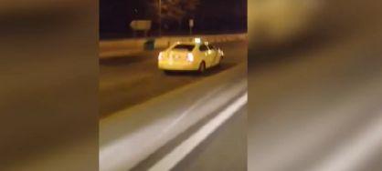 Un taxista ebrio conduce en sentido contrario durante varios kilómetros