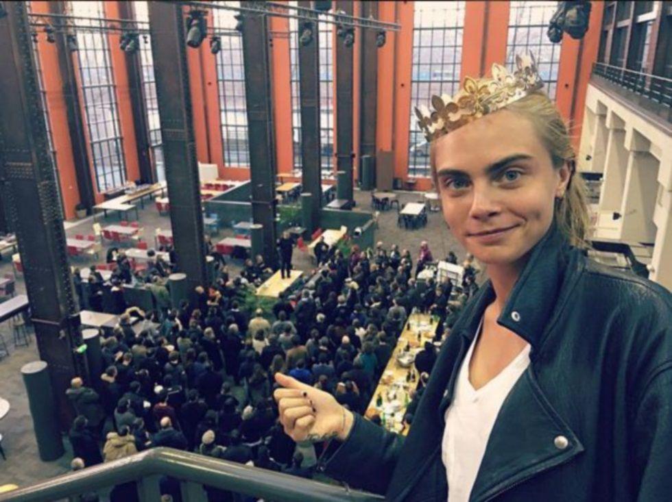 Cara Delevingne en el primer día del rodaje de su nueva película.