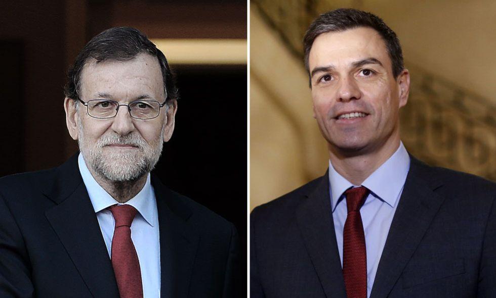 Mariano Rajoy y Pedro Sánchez