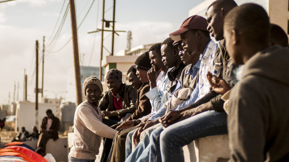Refugiados sudaneses en Amman, Jordania.