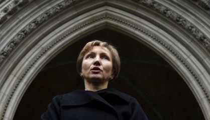 Marina Litvinenko, viuda del espía, en el Tribunal de Londres.
