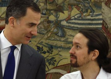 Podemos chief tells king of intention to form government with Socialists, IU