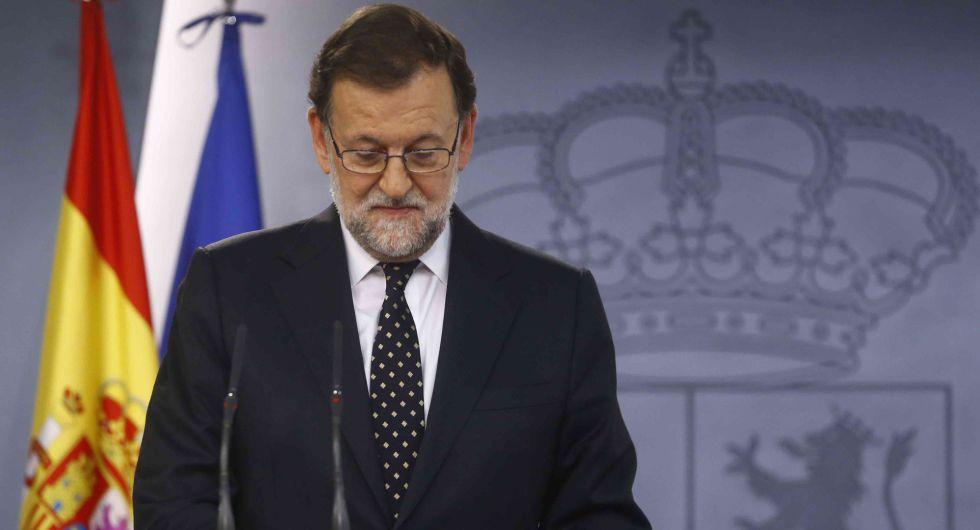 Rajoy, durante la rueda de prensa del pasado viernes.