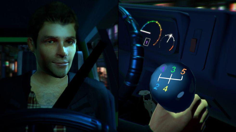 Escena del simulador 'Stick Shift'