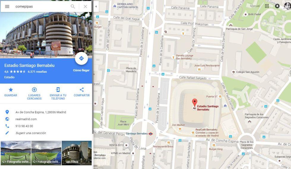 """Esto es lo que pasa si pones """"comepipas"""" en Google Maps"""