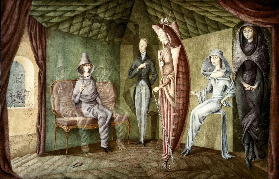 Varo puso a varias de sus obras títulos de libros en los que buscó inspiración, como 'Tailleur pour dames'.