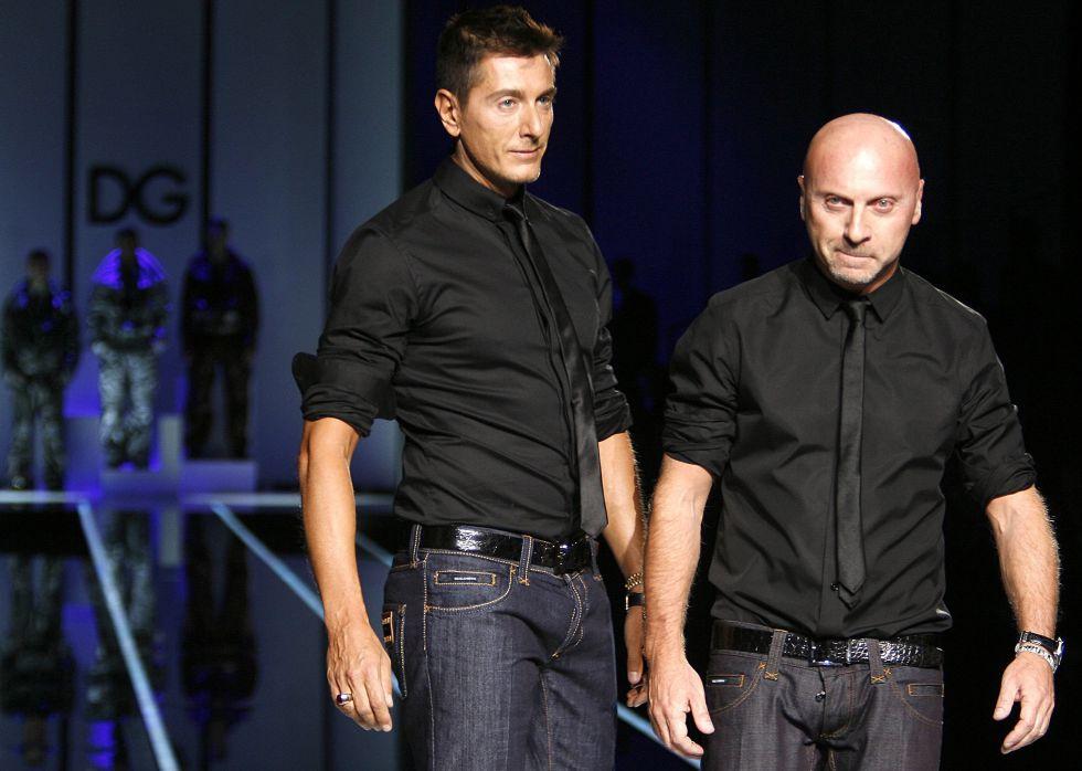Domenico Dolce y Stefano Gabbana, tras la presentación de uno de sus desfiles.