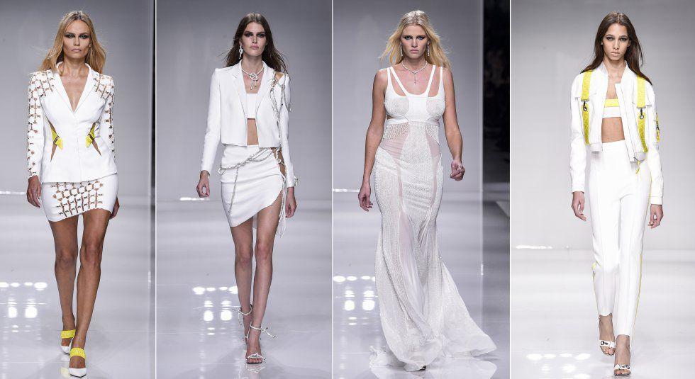 Desfile de la colección primavera-verano 2016 de Versace en la Semana de la Moda de París.