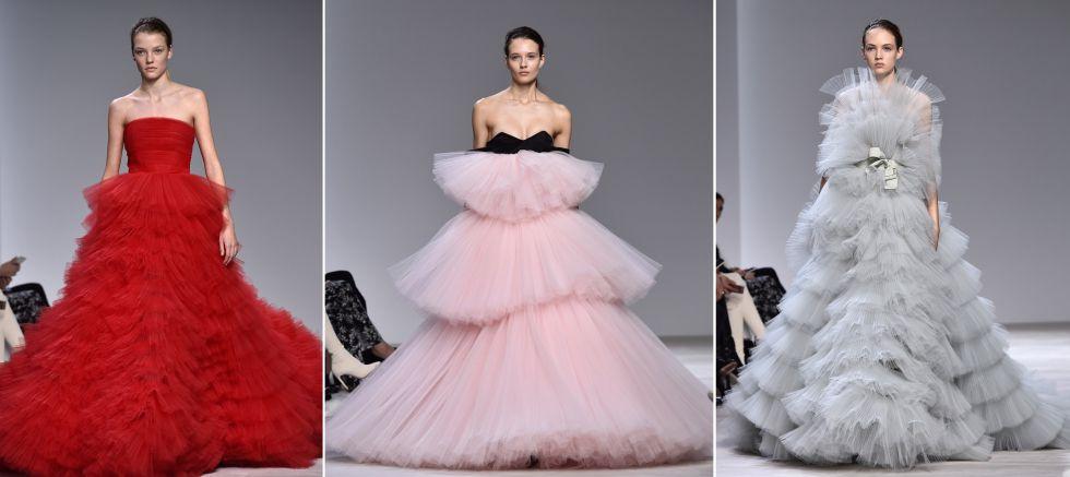 Tres de las propuestas con mayor envergadura del diseñador italiano Giambattista Valli.