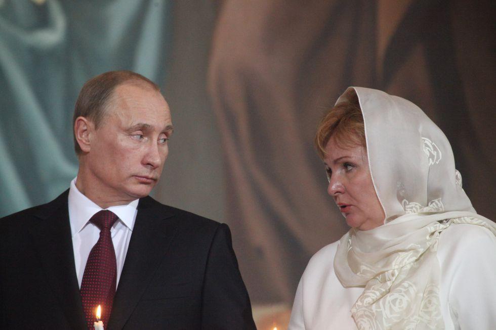 Vladímir Putin y su exmujer, Liudmila Pútina