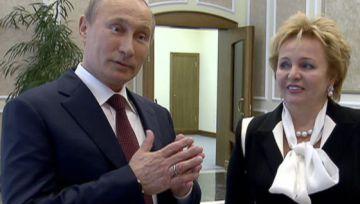 Vladímir Putin y su esposa, Liudmila.
