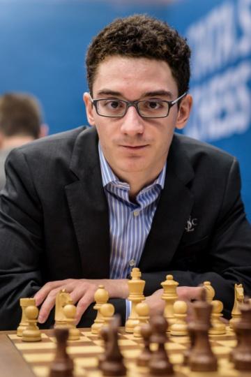 Fabiano Caruana, el martes durante la 9ª ronda en Wijk aan Zee (Holanda)
