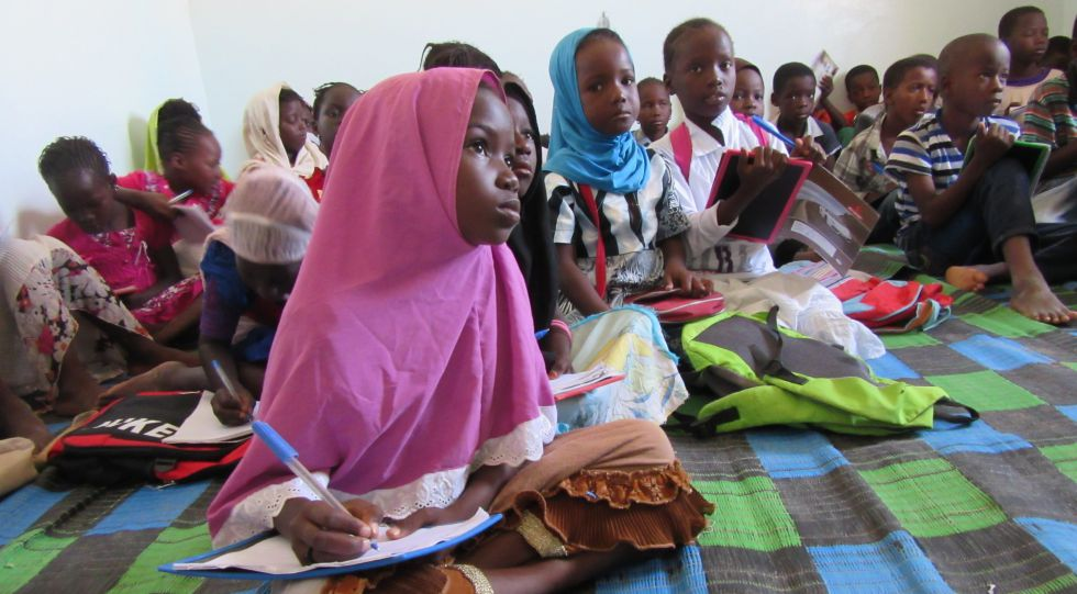 Niños en la escuela en Mauritania