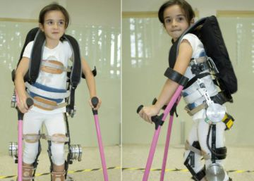 Un exoesqueleto para levantar peso