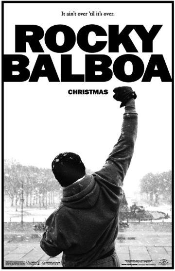 Cartel promocional de una de las cintas de Rocky Balboa.